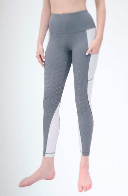 Gray Yoga Leggings w/Airflow Panels (39-3)