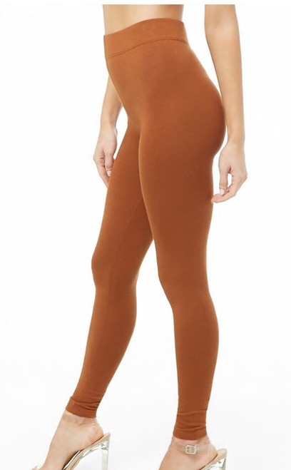 94% Cotton Knit Golden Rod Color Wide Band Legging (43-2)
