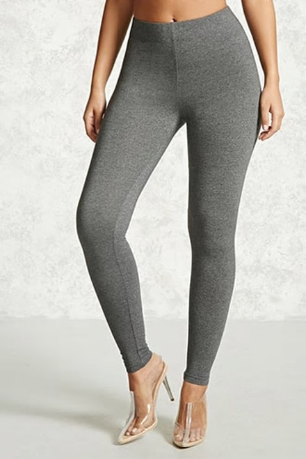 94% Cotton Knit Heather Gray Wide Band Legging (43-4)