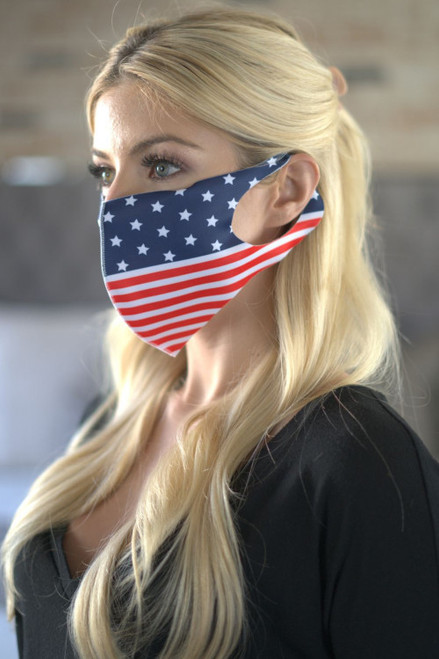 AMERICAN FLAG FASHION MASK  (45-2)