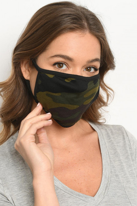 CAMOUFLAGE REUSABLE FACE MASK (45-45)