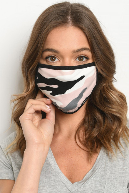 PINK CAMOUFLAGE REUSABLE FACE MASK (45-46)