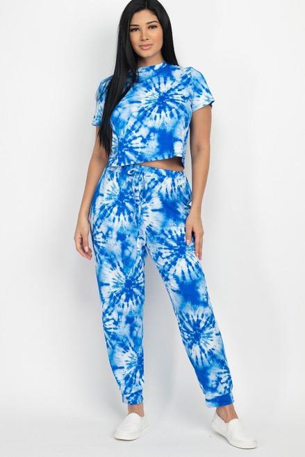 Tie-dye Printed Top And Pants Set - CLA2.BTP2989-204.id.52845f-L