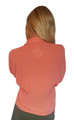 Chiffon Button Down Cutout Top. Coral.  (A-187)