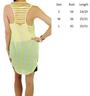 Sheer Chiffon Features Cutout Back! Yellow Stripes (F-11)
