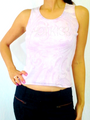 """100% Cotton Boutique Tank Top. """"HOT KISS"""" in Stones. Light Pink. (E-136)"""