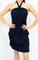 100% COTTON Solid Black Halter Dress/Coverup.  (C-18)