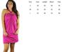 100% COTTON Solid Fuchsia Halter Dress/Coverup. (C-19)