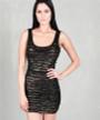 100% Rayon Layered Gold/Black Dress! Holidays! $17.99 Tags.  (C-50)