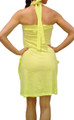 100% COTTON Halter Dress/Coverup. SunShine Yellow.  (C-17)
