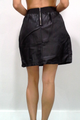 MOSSIMO! High Quality, Rayon Faux Leather Black Skirt Zips Up the Back!  (E-76)