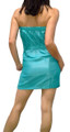 Strapless Teal Tube Dress with Ruffled Front.  (C-193)