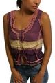 100% Cotton Peasant Top! Boho-Chic Purple Tie Dye.  (A-164)