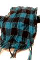 Blue & Black Plaid Scarf w/Subtle Silver Metallic Thread!  (D-198)