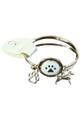 RUFF! Cream Adorable Doggie on Gold Bracelet!  (G-31)