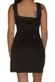 Classic Black Dress with Built-In Necklace. Black.  (C-134)