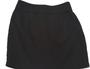 Solid Black Pencil Skirt with Braided Trim Around Waistline.  (E-64)