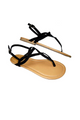 Twisty Black Straps make these Adorable Sandals a Trendy Look for Spring! (L-12)