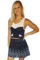Boutique Crop Top with Sheer Accent is Fully Lined! Black & White Colorblock.  (B-137)