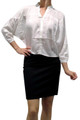 100% Rayon! 3/4 Sleeve Top in Spring Ivory White.  (B-93)