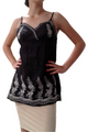 Major BRAND Embroidered Top! Black.  (C-23)