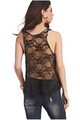WET SEAL Camo Tank Top Black Lace Back (B-102)