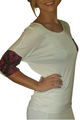 Beautiful White Rayon Top with Aztec Accents!  (B-73)