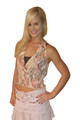 Tribal Pattern Halter Top with Built-In Cami! Burnt Orange.  (B-70)