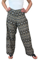 PALAZZO PANTS ARE BROWN & BLACK GEO PRINTED GEO PRINTED! **Also available in Plus Size: Item #9432 (D-173)