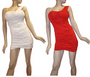 One Shoulder White Bodycon Dress.  (C-145)