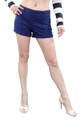 Sexy Hi-Waist Shorts with Zip Side and Pique Texture! Blue.  (D-94)
