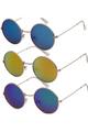 "HIGH QUALITY UV400 PROTECTION SUNGLASSES. RETRO COOL ""TEASHADE"" JOHN LENNON GRANNY GLASSES. BLUE/GREEN BLUE."