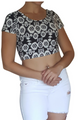 Crop Top Bustier is 10% Spandex! Black & White Aztec / Geo Pattern.  (A-2)