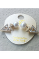 DEPARTMENT STORE EARRINGS. 'DIAMOND' AND 'PEARL'.  (G-52)