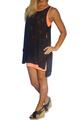 Black & Orange Dress with Cutout Overlay!  (C-129)