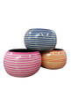 BRACELETS. Wide Bangle with Pink & Mocha Stripes! Made in India.  (G-24)