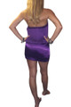 Jeweled & Studded Halter Top/Mini Dress. Purple. (C-36)