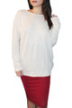 NORDSTROM'S QUALITY RAYON TOP w/Open, Cowl Back! Natural  (A-44)