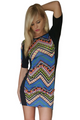 Amazing Chevron Print Bodycon Dress