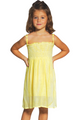 KIDS / GIRL'S ORANGE TIE DYE STRAPLESS DRESS WITH OPTIONAL SPAGHETTI STRAPS!  (B-80)