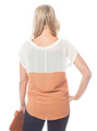 Rust Top with Cream Sleeves!  (C-6)