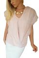 100% Cotton Crochet Accented Boho Top! Blush Pink.  (B-127)