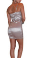 Mocha Coffee Colored Strapless Bodycon Dress with Stones.  (C-120)