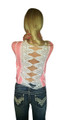 Lightweight, Lace Back Top From Derek Heart! Coral Pink.  (A-115)