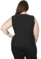 PLUS SIZE BLACK SOLID TOP WITH $20 TAGS! 95% RAYON! FROM AVENUE. (E-123)