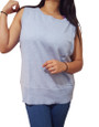 Plus Size Top Is Amazing Cotton-Rayon Blend! Sky Blue. (B-40)