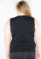Plus Size Top Sleeveless Cotton-Rayon Blend! Black. (B-39)