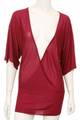 Long Deep V Neck Cardigan. Magenta Wine. (C-78)