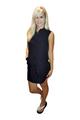Classic Cotton Shirt Dress! Black. From Casting L.A.! (C-150)