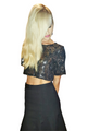 Black Crop Top With Sequins & Keyhole Back From America's Hottest Mall Brand! (D-93)